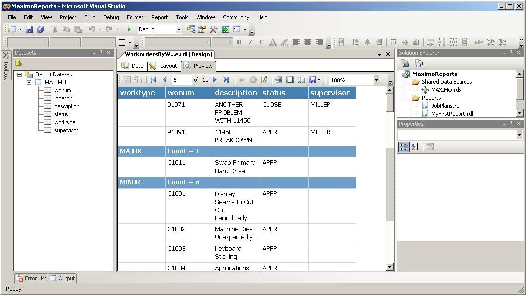 Maximo Sql Ssrs Plug-In For Simpler Maximo Reports