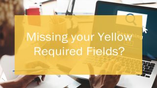 Header: Missing Yellow Required Fields?