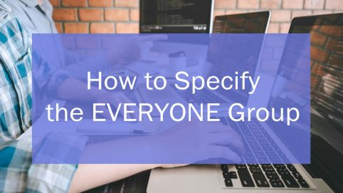 Header: How to Specify the EVERYONE Group