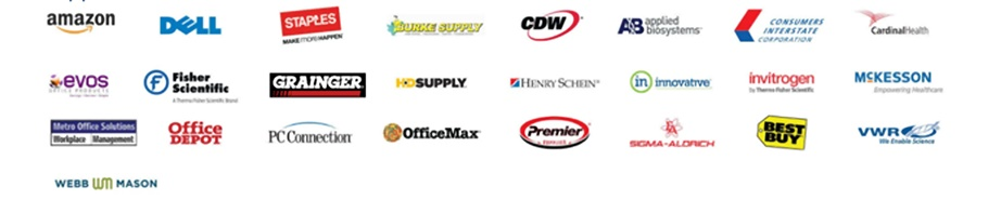 Vendor logos who support Maximo Vender Punchout solution