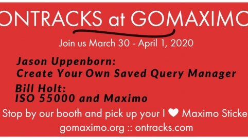 Ontracks will host two topics at GOMaximo